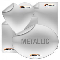 Aufkleber Metallicfolie drucken