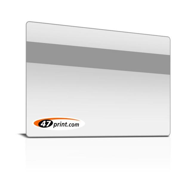 Plastikkarten 86 x 54 mm, weiß, silber, gold mit Magnetstreifen
