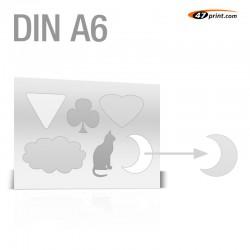 Stickerbogen DIN A6 - mit 4-6 Teile anstanzen