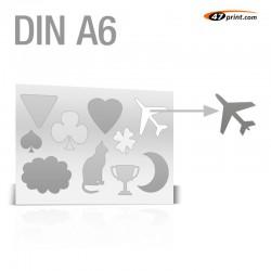 Stickerbogen DIN A6 - mit 7-10 Teile anstanzen