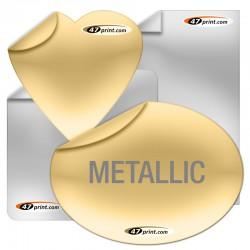 Siebdruck Aufkleber aus Polyesterfolie metallisch glänzend