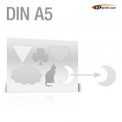 Stickerbogen DIN A5 - mit 4-6 Teile anstanzen