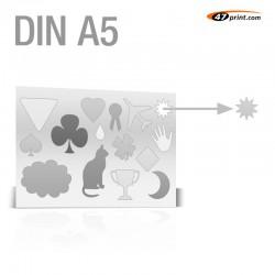 Stickerbogen DIN A5 - mit 11-15 Teile anstanzen
