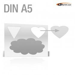 Stickerbogen DIN A5 - mit 1-3 Teile anstanzen