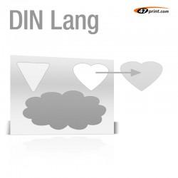 Stickerbogen DIN Lang - mit 1-3 Teile anstanzen