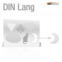 Stickerbogen DIN Lang - mit 4-6 Teile anstanzen