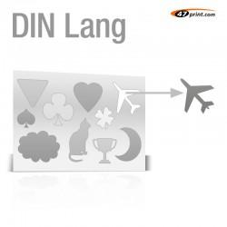 Stickerbogen DIN Lang - mit 7-10 Teile anstanzen