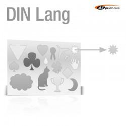 Stickerbogen DIN Lang - mit 11-15 Teile anstanzen