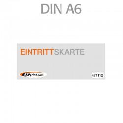 Eintrittskarte A6 148 x 105mm - 1 x nummeriert