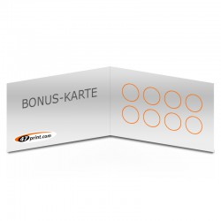 Bonuskarte, Terminkarte, quer, 4-seitig, beschreibbar