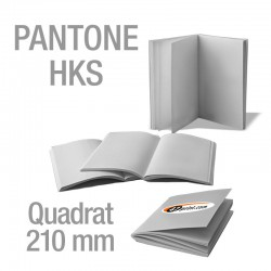Broschüren Quadrat 210 mm (Sonderfarben)