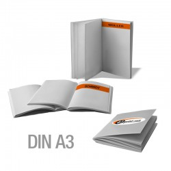 Broschüren DIN A3 personalisiert (4/4-farbig)