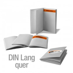 Broschüren DIN Lang quer personalisiert (4/4-farbig)