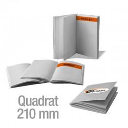 Broschüren Quadrat 210 mm personalisiert (4/4-farbig)