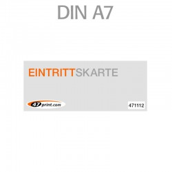 Eintrittskarte DIN A7 105 x 74 mm - 1 x nummeriert