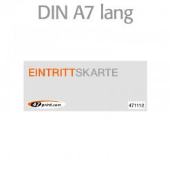 Eintrittskarte DIN A7 lang 148 x 52 mm - 1 x nummeriert