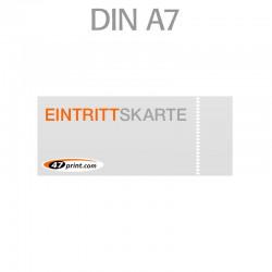 Eintrittskarte DIN A7 105 x 74 mm - 1 x perforiert
