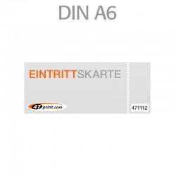Eintrittskarte DIN A6 148 x 105 mm - 1 x nummeriert und 1 x perforiert