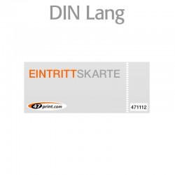 Eintrittskarte DIN lang 210 x 99 mm - 1 x nummeriert und 1 x perforiert
