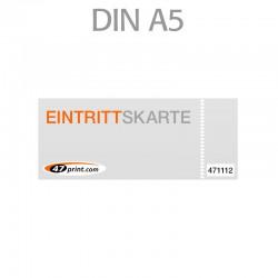 Eintrittskarte DIN A5 210 x 148 mm - 1 x nummeriert und 1 x perforiert