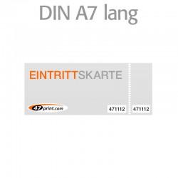 Eintrittskarte DIN A7 lang 148 x 52 mm - 2 x nummeriert und 1 x perforiert