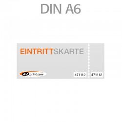 Eintrittskarte DIN A6 148 x 105 mm - 2 x nummeriert und 1 x perforiert