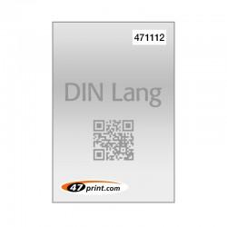 Flyer DIN lang mit Personalisierung, Nummerierung, QR-Code