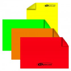 Neon Aufkleber DIN A4 halbe, 103 x 297 mm, Haftpapier neonfarbig