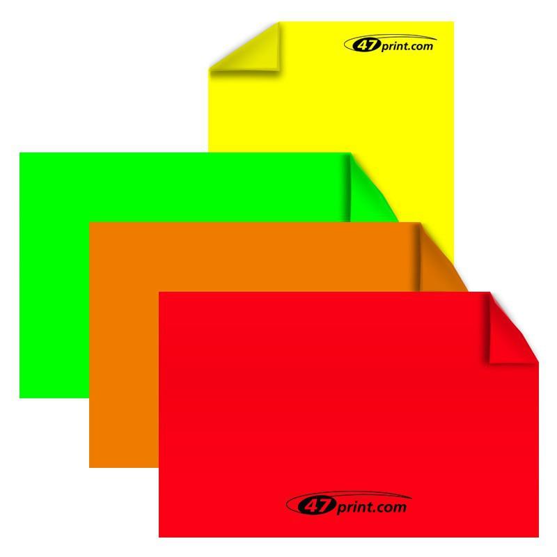 Neon Aufkleber Din A6 148 X 105 Mm Haftpapier Neonfarbig