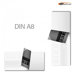 Hinterglasaufkleber DIN A8, 50 x 72 mm