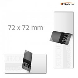 Hinterglasaufkleber Quadrat  72 x 72 mm