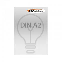 Plakat DIN A2, selbstklebende Backlit-Folie, laminiert