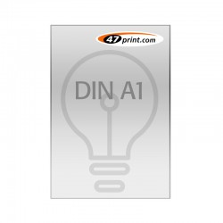 Plakat DIN A1, selbstklebende Backlit-Folie, laminiert