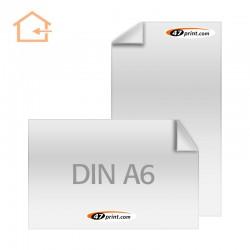 Aufkleber DIN A6 Haftpapier weiß, beschreib- und bestempelbar