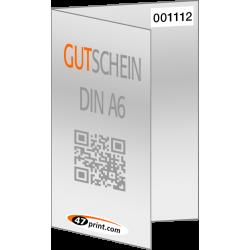 Gutschein 4-seiter DIN A6