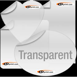 Transparente Aufkleber drucken