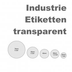 Etikettenrechner - transparente Etiketten auf Rolle
