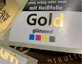 Glänzendes Gold drucken