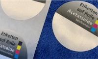 Textil Etiketten aus Acetatseide - auf Rolle